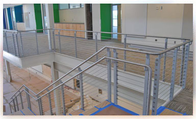 Example of our metal railing work - stairs